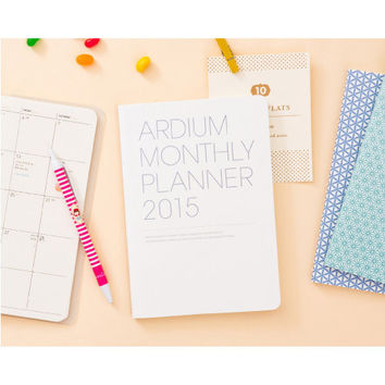 2015 Ardium Pattern monthly dated planner scheduler
