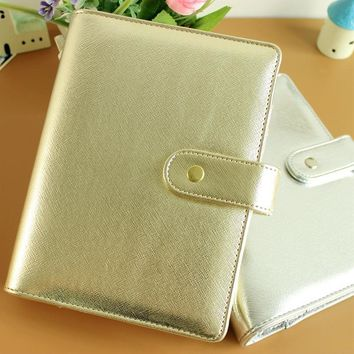 A5 A6 silver gold refillable dokibook daily notebook loose-leaf filofax planner agenda notepad binder
