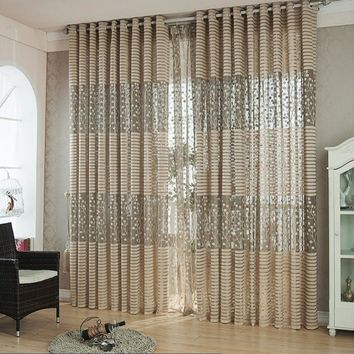 New Arrival Curtains European Simple Design Window Drape Blackout Tulle/Voile Curtain For Living Room Bedroom #229323
