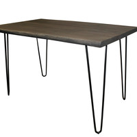 Angeles Crest Live Edge Counter Height Table GREY