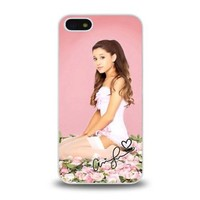 iPhone 5 5S case protective skin cover with Pop Star Ariana Grande gorgeous design #33