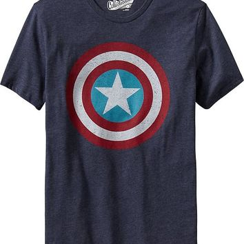 "Old Navy Mens Marvel""¢ Captain America Tees"