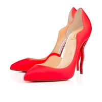 DALIDA FLUO MAT/JAZZ CALF, ORANGE/WHITE, Calf, Women Shoes, Louboutin.
