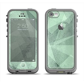 The Light Green with Translucent Shapes Apple iPhone 5c LifeProof Fre Case Skin Set