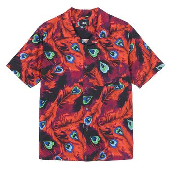 Peacock Shirt in Red