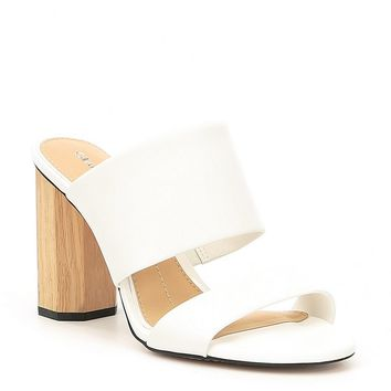 Gianni Bini Haulzy Two-Piece Block Heel Mules | Dillards