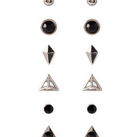 Mixed Rhinestone Geo Stud Set