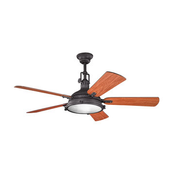 Kichler 300018DBK Hatteras Bay Distressed Black Ceiling Fan