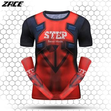 Funny T Shirts With Arm Sleeves Summer UV Protection 3d Printer T Shirt Fitness Crossfit Bodybuilding Workout Tops For Men Women