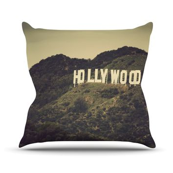 "Catherine McDonald ""Hollywood"" Throw Pillow"