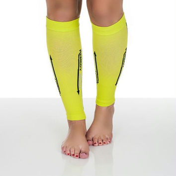 Remedy Calf Compression Running Sleeve Socks - XLarge - Yellow