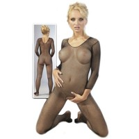 Crotchless Fishnet Catsuit
