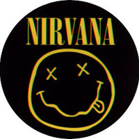 Nirvana Round Smiley Band Logo Sticker Decal CD-S3856