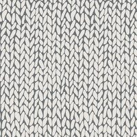 Hand Knit Grey Removable Wallpaper