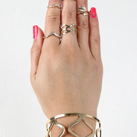 Ogee Cuff and Rings Set