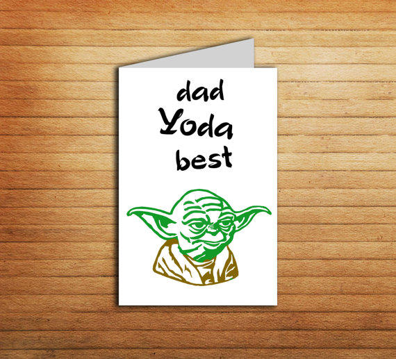 Father's Day Star Wars Printable Card From EnjoyPrintable