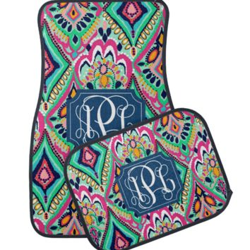 Crown Jewels Lilly Inspired Monogram Car Mats