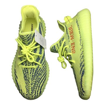 Luxury Semi Frozen Yellow Shoes Street Style Sneaker Off Brand Without Orignal Box