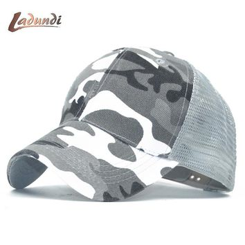 Trendy Winter Jacket 2018 LADUND Camo Mesh Baseball Cap Men Camouflage Bone Masculino Summer Hat Men Army Cap Trucker Snapback Hip Hop Dad Hats AT_92_12