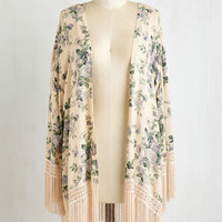 Boho Long Short Sleeves Strand in Hand Jacket by ModCloth