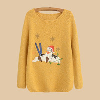 Yellow Penguin With Christmas Hat Sweater
