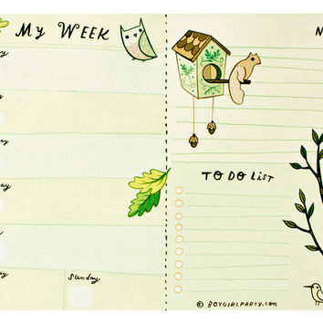 Weekly Planner Notepad (Green)