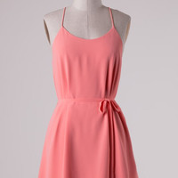 Coral Simplicity Dress with Racerback