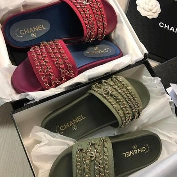 Chanel Trendy Premium Classic Slipper Sandals F