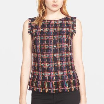 Women's Trina Turk 'Oriel' Tweed Sleeveless Top,
