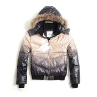 Moncler Men Down Jacket (Black And Milky)