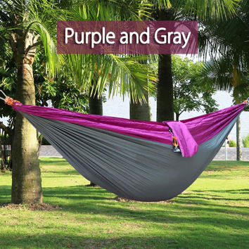 New in stock High Quality Outdoor parachute hammock hammock / camping leisure swing swing chair Outdoor Seating Hammock