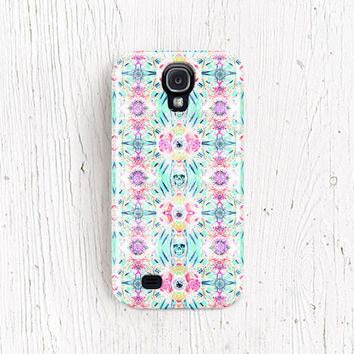 Skull Galaxy s4 case floral Samsung galaxy s3 case rose galaxy 4 case crystal Galaxy note 2 case pattern galaxy s2 case punk /c205