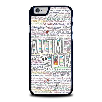 ALL TIME LOW WRITTING iPhone 6 / 6S Case Cover