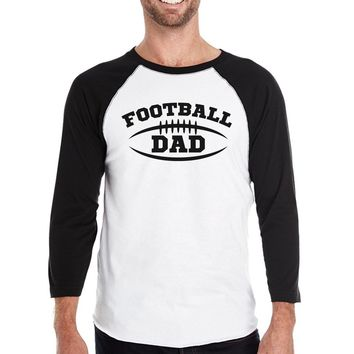 Football Dad Baseball 3/4 Sleeve Tee Funny Gift For Football Fans