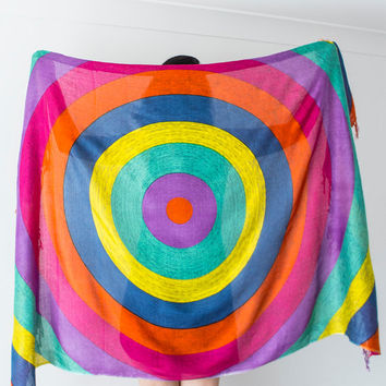 Boho Scarf Bohemian Scarf Colorful Scarf Rainbow Scarf Hippie Scarf Soft Scarf Beach Pareo Bikini Top Beach Towel Multicolor