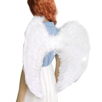 Angel Feather Wing Halloween Womens Costume Cosplay Dress Up Apparel Adult Child