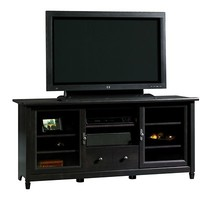 "Sauder Edge Water 58 9/10"" Entertainment Center - Estate Black"