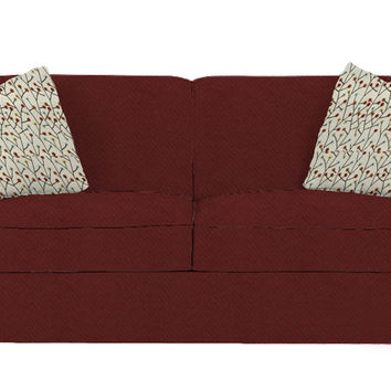 Calgary Full Sleeper Sofa by Savvy in Willow Merlot
