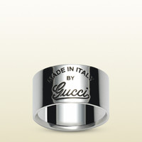 Gucci - engraved vintage gucci trademark wide ring 310515J84008106