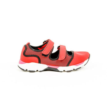 Red 40 EUR - 10 US Marni Womens Double Strap Sneaker SNZWS01G02 TCR86 00R66 RED