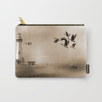 Lighthouse Bay Carry-All Pouch by Theresa Campbell D'August Art