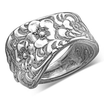 Silver Spoon Adjustable Ring - Charolette