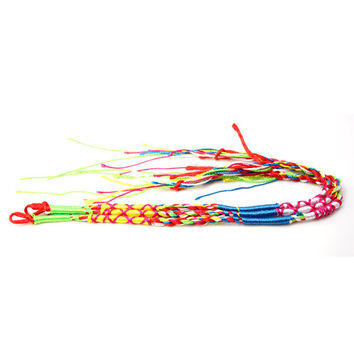 Colorful Handmade Weave Braided String Rope Bracelet