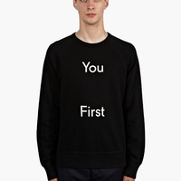 Acne Men's You First Slogan College Sweatshirt