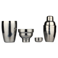New Silver Stainless Steel 250ml & 350ml Cocktail Shakers Martini Bartender Shaker Drink Mixer Home and Bar Tools