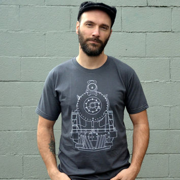 Clothing // TRAIN Tshirt // Men's Tshirt - Gift for Him / Gift for Dad