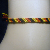 Gryffindor Inspired Candy-Cane Friendship Bracelet