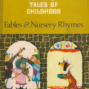 VINTAGE KIDS BOOK Treasured Tales of Childhood Fables & Nursery Rhymes