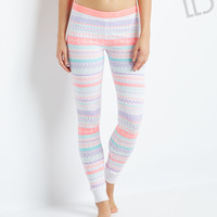 Aeropostale  LLD Fair Isle Sleep Leggings