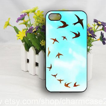 Cute birds flying iPhone 4s case cover, samsung galaxy s3/s4/s5 case,iphone 4/4s case,iphone 5/5s case,iphone 5c cover,Personalized